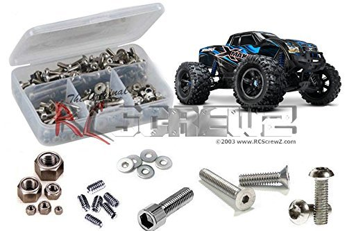 RCScrewZ Traxxas X-Maxx 4x4 Monster Truck Stainless Steel Screw Kit - tra061 - for Traxxas Kit 77076-1 -