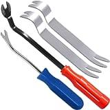 SourceTon Auto Trim Removal Tools Kit Set of 4 pcs, Car Panel Dash Radio Removal Installer Stainless Steel Pry Tools Kit…