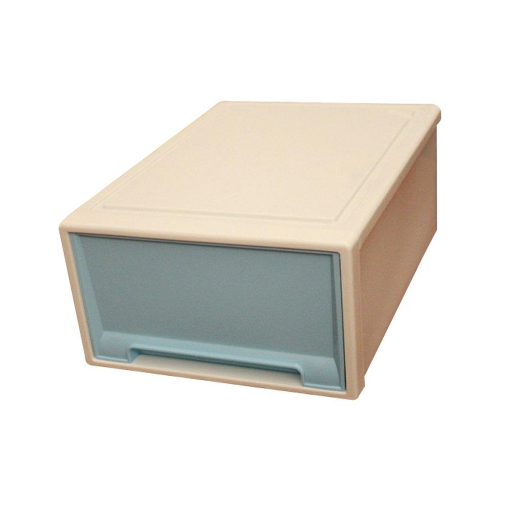 Yardwe Multifunctional Plastic Storage Box Drawer Type Organizer Box (Blue)