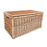 Medium Light Steamed Wicker Linen Chest