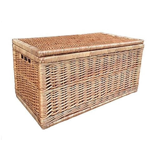 Medium Light Steamed Wicker Linen Chest by Red Hamper
