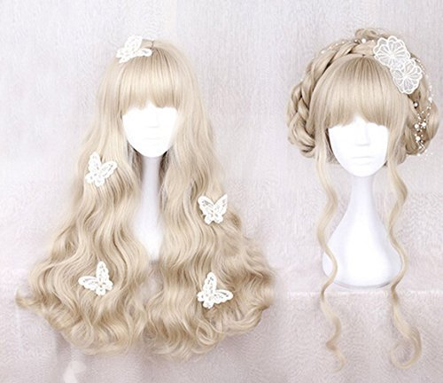 Sale!! Women Girls Japan Harajuku Sweet Lolita Natural Looking Daily Wear Cute Fluffy Blonde Healthy...