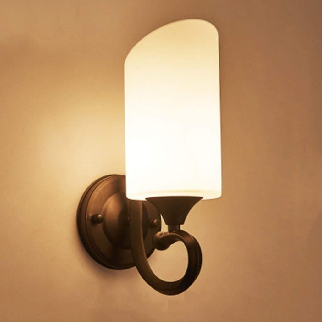 Mirror Lamps Home Wandmontierte Wandleuchte Schlafzimmer Nachttischlampe Moderne Wandlampe Wandleuchte Treppen Wandleuchte LED Glas Wandleuchte