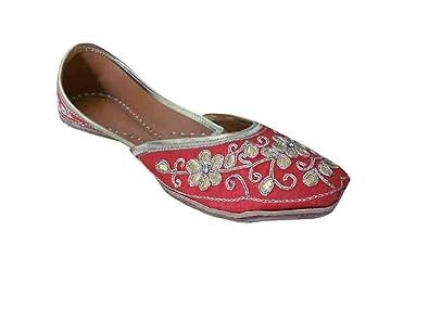 c3f7286a5 Kalra Creations Jutti Indian Women Shoes Wedding Flip-Flops Handmade  Leather Mojari Flat UK 3.5