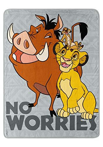 (The Northwest Company Lion King Timon & Pumba Super Soft Throw Standard)