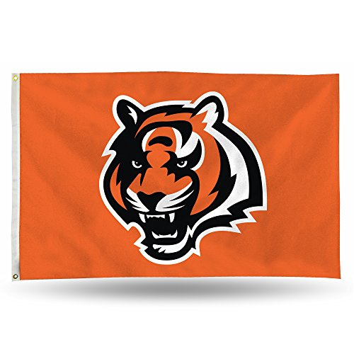 (Rico NFL Cincinnati Bengals 3-Foot by 5-Foot Single Sided Banner Flag with)