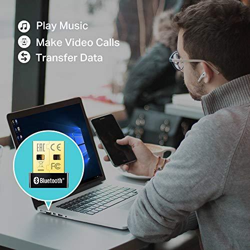 Tp Link Ub400 Nano Adaptador Bluetooth 40 Usb Dongle Para Ordenador Portatil Auriculares Altavoz Teclado Compatible Con Windows 10 8 817 Xp Vista