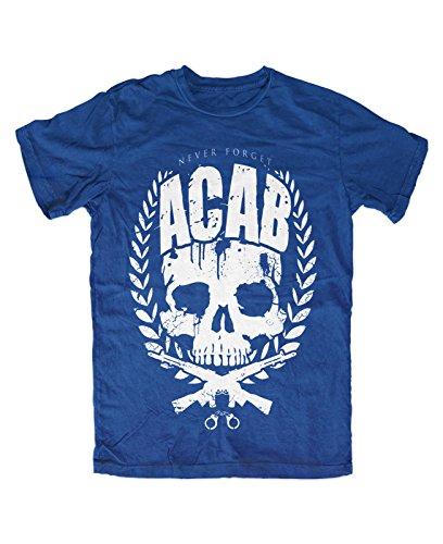 never forget ultras hooligan fussball Streetcore T-Shirt Blau