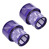 Waroom 2 Pack Vacuum Replacement Filter for Dyson V10 Series, Replace Dyson Part No. 969082-01 Filter,Compatible with Dyson Cyclone V10 Absolute, Animal, Motorhead, Total Clean
