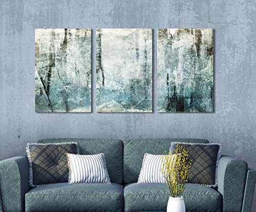 3 Panel Abstract Grunge Color Compositon Gallery x 3