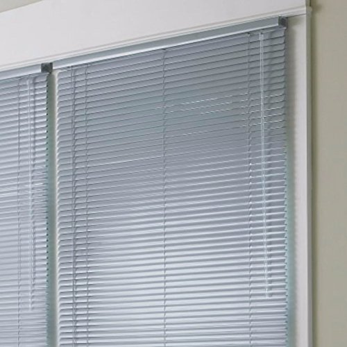 JCPenney Home 1″ High-Gloss Vinyl Horizontal Blinds (46″ X 64″, Blue Granite)