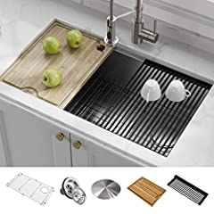 Do more with Kore – The ultimate sink for the modern home chef. Inspired by professional kitchens, the Kore Workstation Series instantly transforms your kitchen sink into a full-service prep station designed for ultimate convenience and enter...
