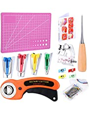 Sewing Fabric Bias Tape Maker Tool Kit, Bias Tape Maker Set 6mm12mm 18mm 25mm with Quilting Clips, Fabric Cutter and A5 Cutting Mat
