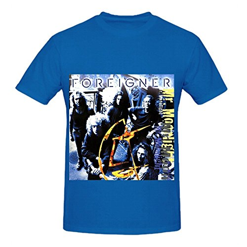 Pepsi Candle (Foreigner Mr Moonlight Tour Pop Men O Neck Casual Shirts Blue)