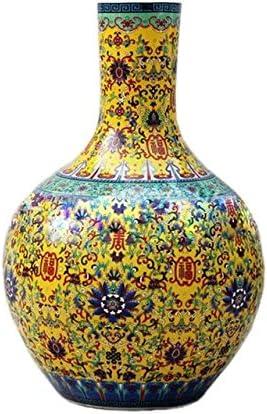 Jarrón sobremesa bajo vidriado de Colore esmaltey porcelana esmaltado - único