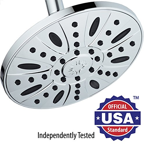 """All-Chrome 28"""" Drill-Free Stainless Steel Slide Bar Combo with 7"""" Rain Showerhead, 6-setting Hand Shower and Revolutionary Low-Reach 3-way Diverter For Easy Reach. Ultimate Dual Shower Head Spa System good"""