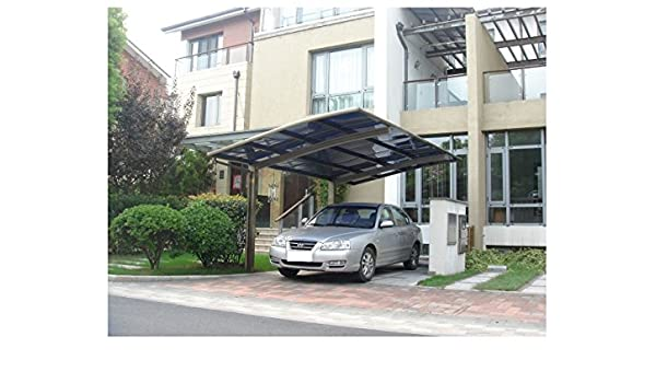 10 x 18 Carport aluminio policarbonato garaje toldo resistente de aluminio con canalón metal Vehículo refugio para coche, Yacht y Copter, también es el lujo para Patio: Amazon.es: Jardín