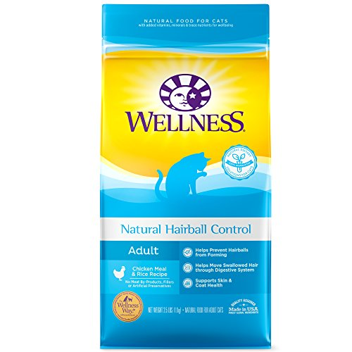 8980 System - Wellness Complete Health Natural Dry Cat Food, Hairball Control Chicken Recipe, 2.5-Pound Bag