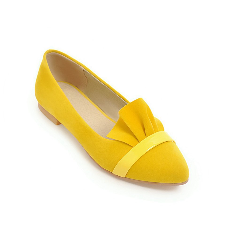 Women's Casual Pointed Toe Ballet Flats Ladies Comfortable Working Walking Shoes Slip-on Loafers