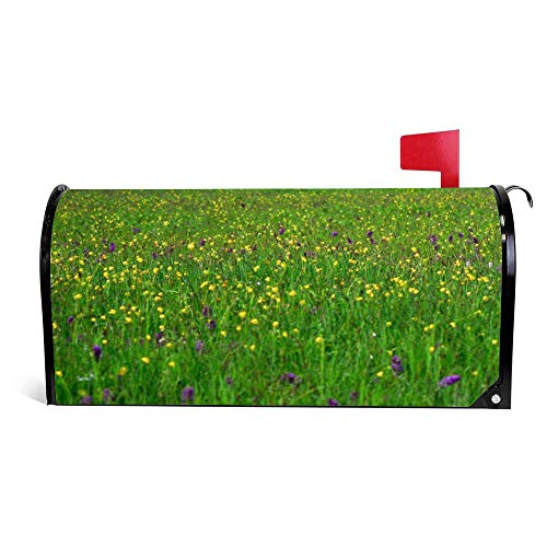 Diuangfoong Meadow Magnetic Mailbox Cover Fits Standard Sized Mailboxes 6.5