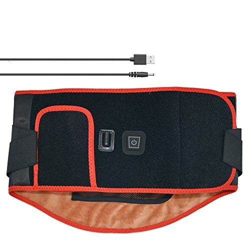 - Carbon Fiber Heating Wrap Back Brace Lumbar Support with Dual Adjustable Straps Far Infrared Back Warmer Belt for Lower Back Pain Relief, Muscle Spasm, Strain, Sciatica, Scoliosis, Herniated Disc