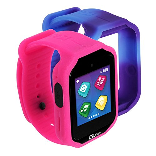 Kurio Watch 2.0+ The Ultimate Smartwatch Built for Kids with 2 Bands, Pink and Color Change by Kidz Delight Ltd.