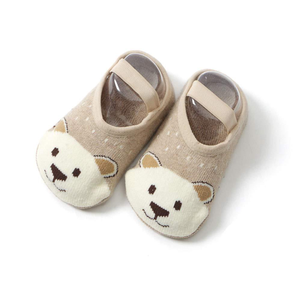 3-5T, 5 Toddler Non Skid Low Cut Socks Anti Slip Grip Slippers for Baby Kids Boys Girls