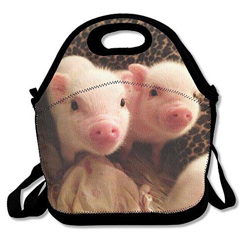 Lightweight Gourmet Lunch Bag Cute Little Suckling Pig 3D Print Lunch Box Handbag For Kids And Adults