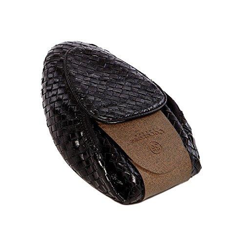 Mujer Ballerinas Cuero Plegables Cocorose Clapham Negro Zapatos q1BXUwa