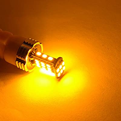 Alla Lighting Super Bright BA15S 1156 LED Turn Signal Light Bulbs 2000Lms 7506 1156 LED Bulb 3020 30-SMD 1156A 1156 LED Lights Bulbs Amber Yellow Blinker Lights Replacement for Cars Trucks Motorcycle: Automotive