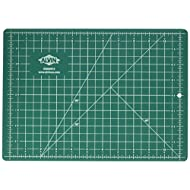 """Alvin GBM0812 GBM-Series 8 1/2"""" x 12"""" Professional Self-Healing Cutting Mat, Green/Black, Hanging Hole for Convenient Storage"""