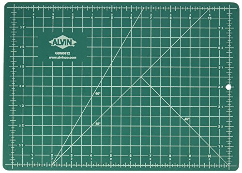Alvin Professional Cutting Mats Green/Black Size - 12L x 8.5W inches (Knife Xacto Set)
