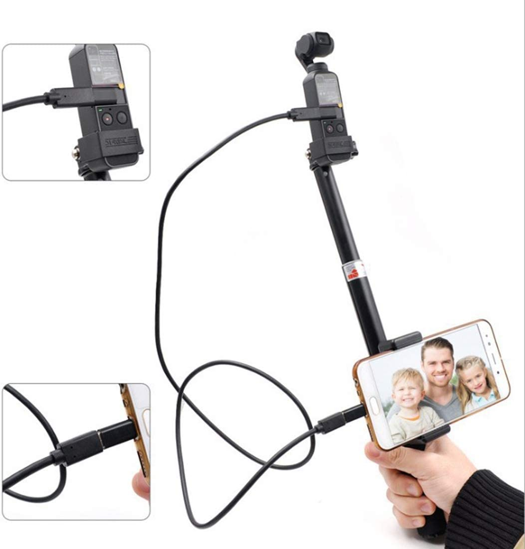 Durable USB-C//Type-C DJI OSMO Pocket Portable Extendable Selfie Stick Folding Self Timer Rod for Android Phone