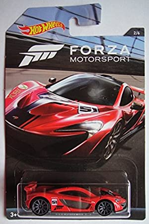 Amazon.com: Hot Wheels Forza Motorsport Series Rojo McLaren ...