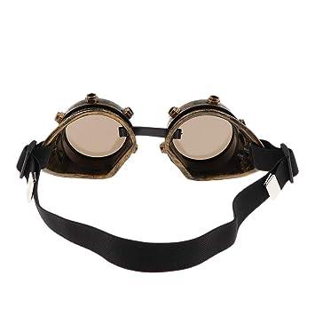 IPOTCH Gafas Goggle de Steampunk Anti-Viento Estilo Victoriano Accesorios de Disfraces para Mujer Hombre - Oro Antiguo: Amazon.es: Juguetes y juegos