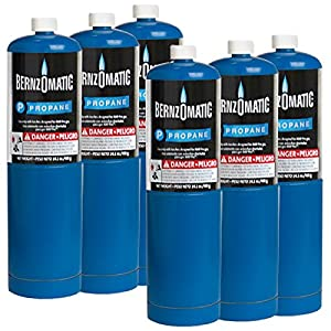 Standard Propane Fuel Cylinder - Pack of 6 from Bernzomatic