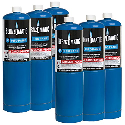 Standard Propane Fuel Cylinder - Pack of 6 by Bernzomatic