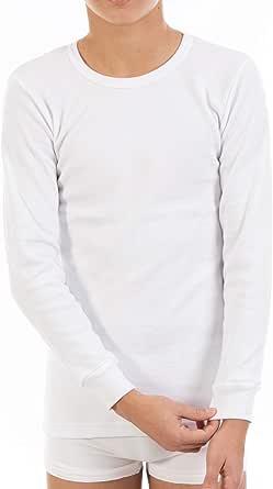 Pack Ahorro de 6 Unidades - Camiseta Interior Termal de niño L117, de Manga Larga y Cuello Redondo. Misma Talla y Color.