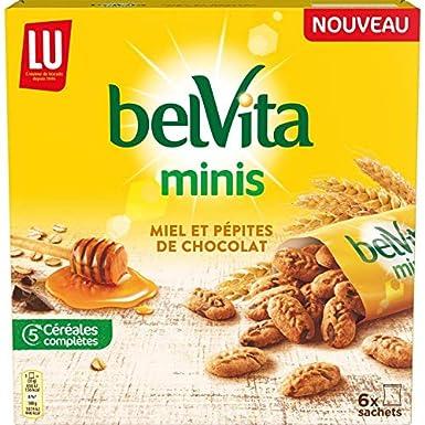 Belvita - Mini Miel Y Pepitas De Chocolate 210G - Lot De 4 ...