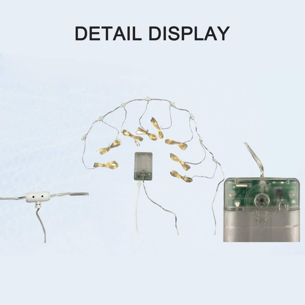 Luci per stringhe Luci per ombrellone da patio 104 LED 8 modalit/à di illuminazione con telecomando Impermeabile a batteria Luci a 8 corde per interno bianco esterno caldo Batteria non inclusa
