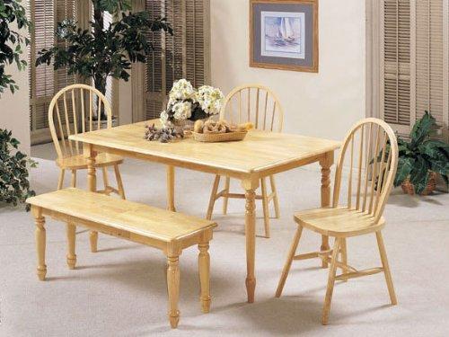 ACME Farmhouse Solid Wood Table, Natural Finish Acme Furniture 02247N
