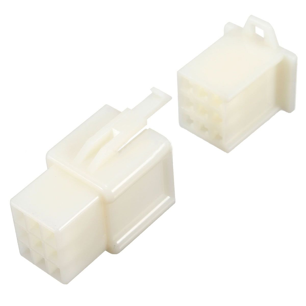 Connector Kit - TOOGOO(R) 5x 9 Way 2.8mm Mini Connector Kit Car Motorcycle Pin Terminal Blade ATV White by TOOGOO(R) (Image #1)