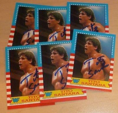 Tito Santana Signed 1987 WWF Topps Card #6 WWE Autograph ...