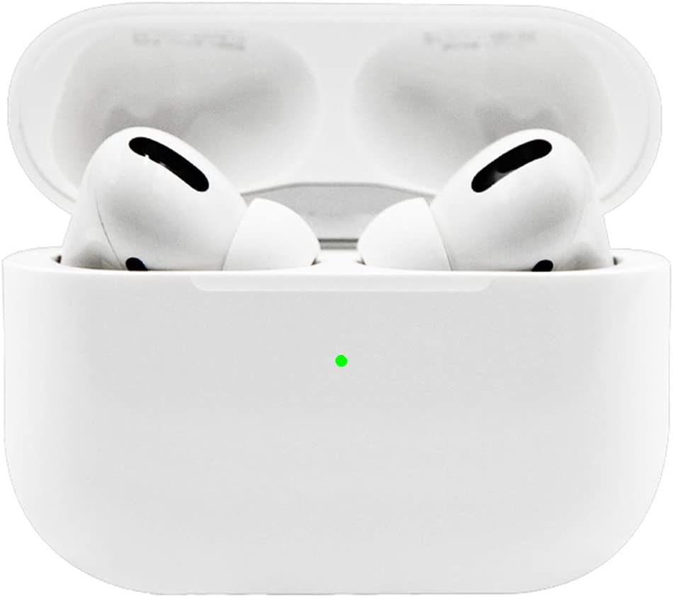 Wireless Earbuds Bluetooth 5.0 CVC8.0 Noise Canceling Bluetooth Headphones Built-in Mic HiFi Stereo in-Ear Headset with Fast Charging Case, for iPhone/Android AirPods Pro Apple Ear Buds (White)