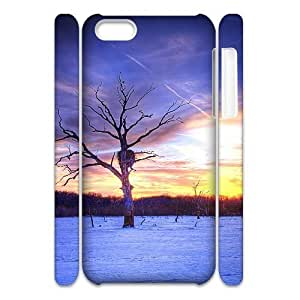 TRDJGOO 3D Bloomingbluerose Lake Apocalypse Cases for IPhone 5C Cute Girly &amp, Cheap, Iphone 5c Cases for Teen Girls Protective for Girls with White