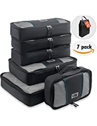 UBAG Travel Packing Cubes – Set of 6 Packing Organizers or Luggage Packing Cubes – Packing Cubes Value Set