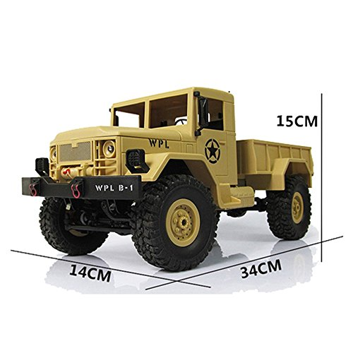 RC Military Truck 1/16 , 4WD All terrain Offroad Wireless Remote Control High Speed Crawler Cars by HongXander Toy RC Racing Car (Image #5)