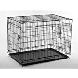 New Black 30 Pet Folding Suitcase Dog Cat Crate Cage Kennel Pen w/ABS Tray LC by BestPet