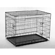 """New Black 24"""" Pet Folding Suitcase Dog Cat Crate Cage Kennel Pen w/ABS Tray LC"""
