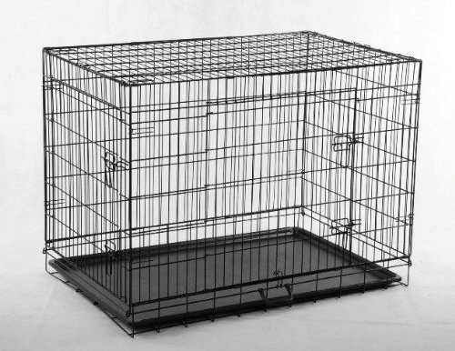 2 Door Pet Wire Cage with ABS Pan 51nG BAM30L